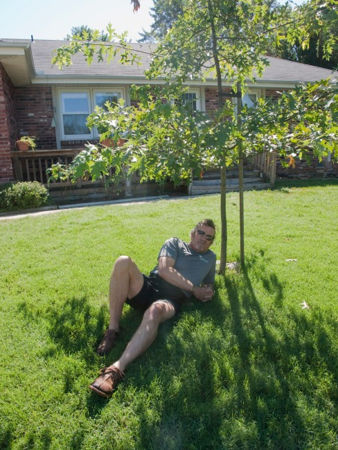 During the fifth summer, David Massey lounged in the shade of the Mighty Oak,