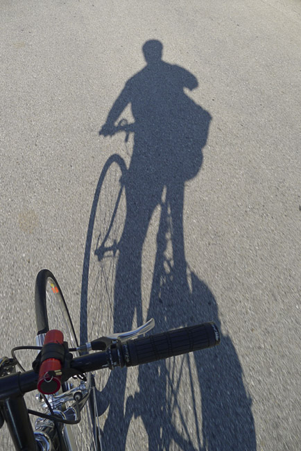 Asphalt Composition as Lee Friedlander riding a Schwinn
