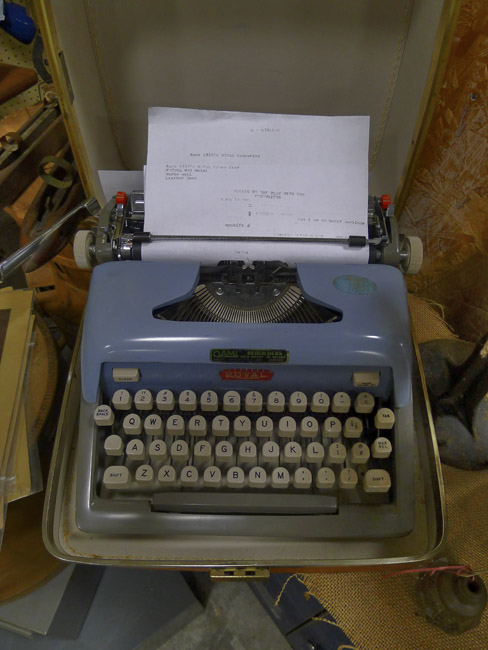 Royal Typewriter, a relic from Relics Antiques Mall