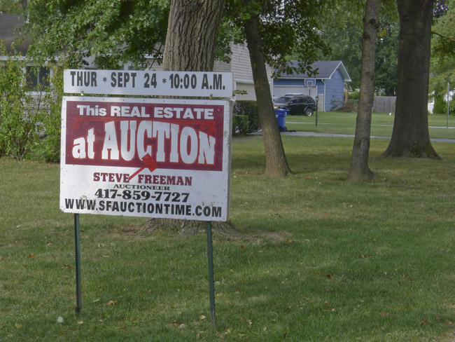 Springfield Signs, Real Estate Auction