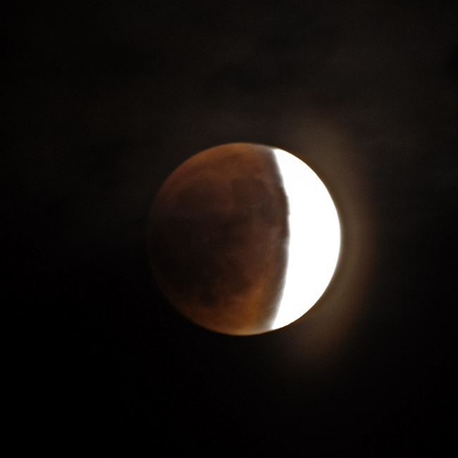 The Lunar Eclipse of the Blood Moon