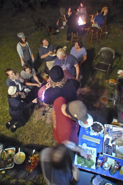 Last night at Karen and Rick's for Smores  and Uke camaraderie