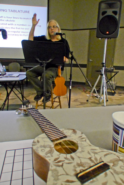 Karen Maxson taught a Ukulele Tablature class