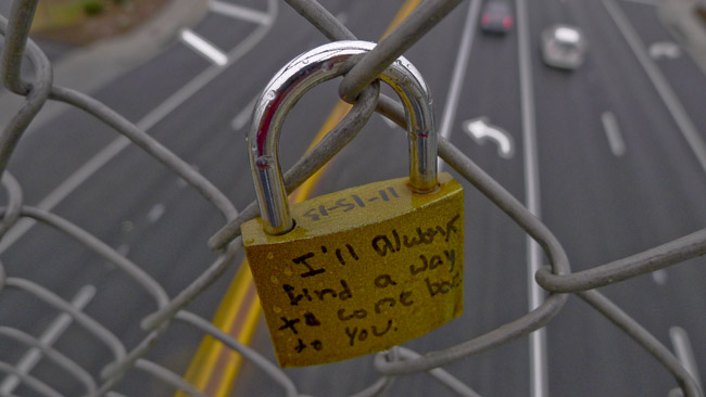 Love locked on South Campbell