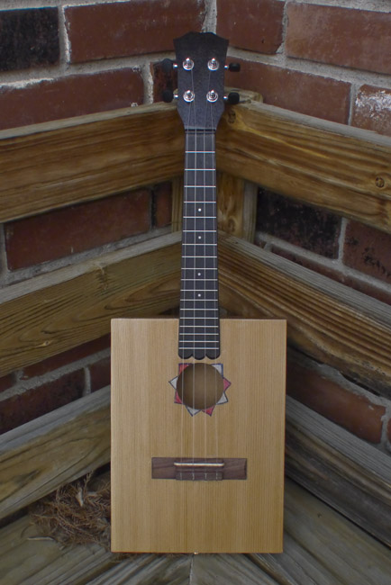 "The front of ""$100 Dollar Bill"" a concert ukulele"