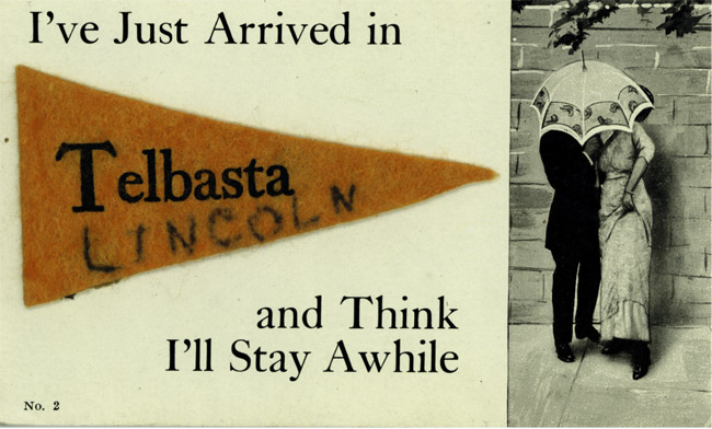 Postcard from Telbasta, Nebraska