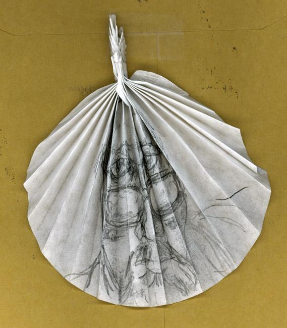 Cone filter-graphite self-portrait