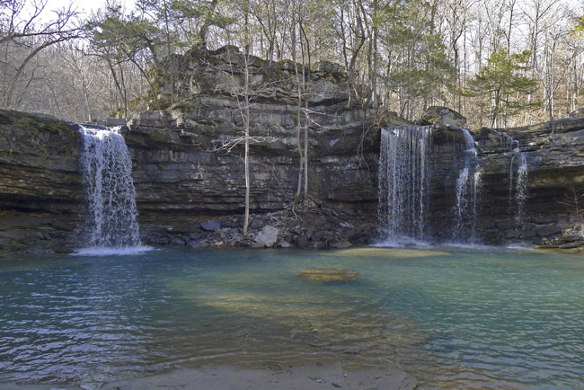 Twin Devils Falls in the Richland Creek Wilderness