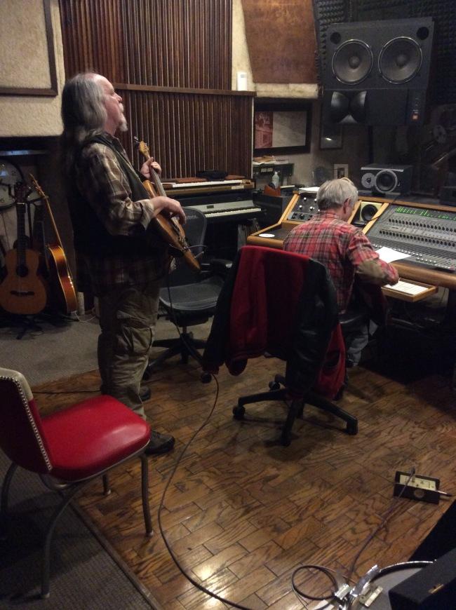"Michael ""Supe"" Granda and Nick Sibley laid down tracks at Nick's studio"