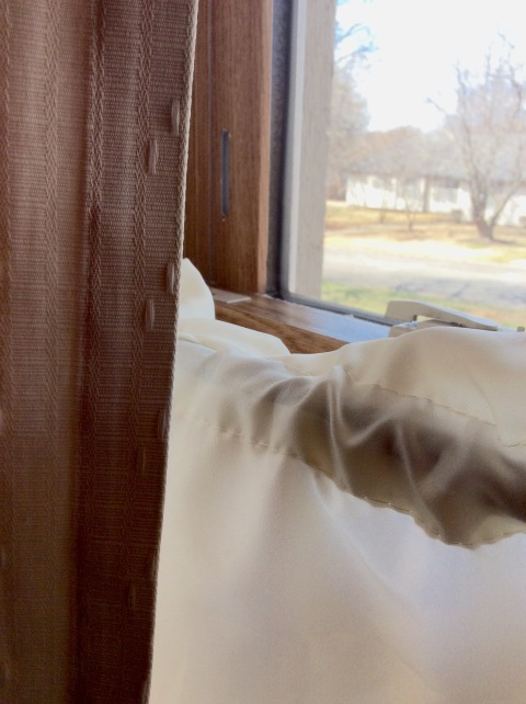 Kitchen window and curtains