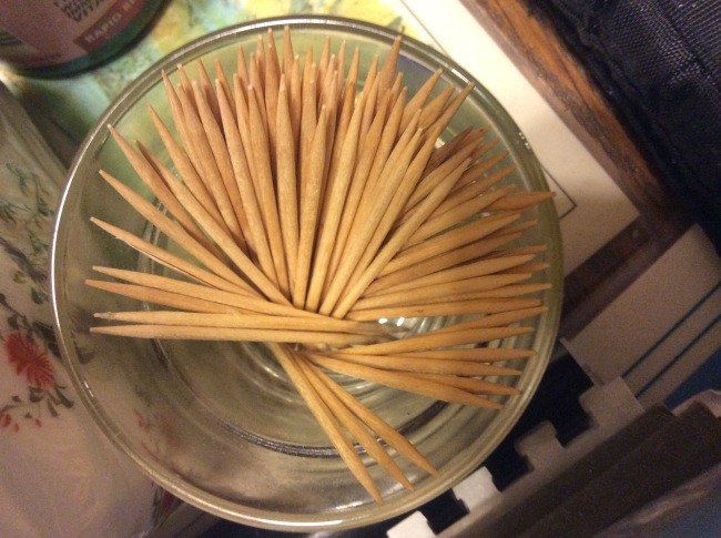 Toothpicks, homage to Ruth Bernhard