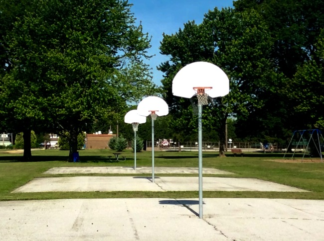 Empty courts at Meador Park