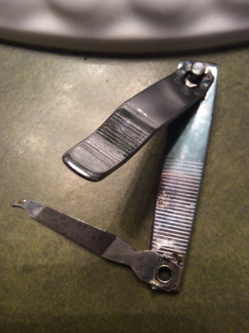 Old toenail clippers
