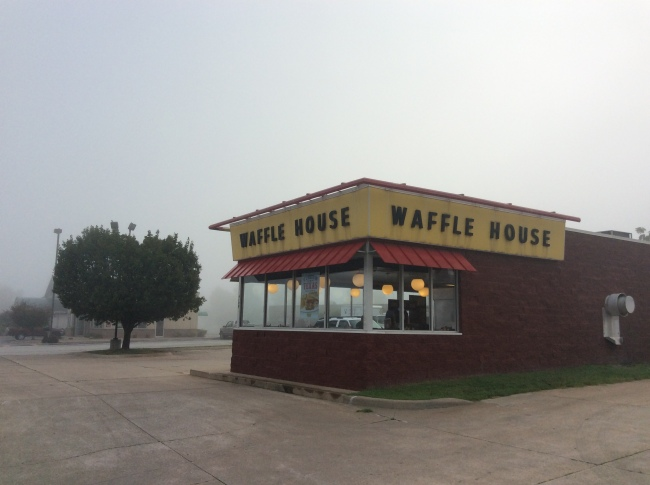 A grey day at the Waffle House