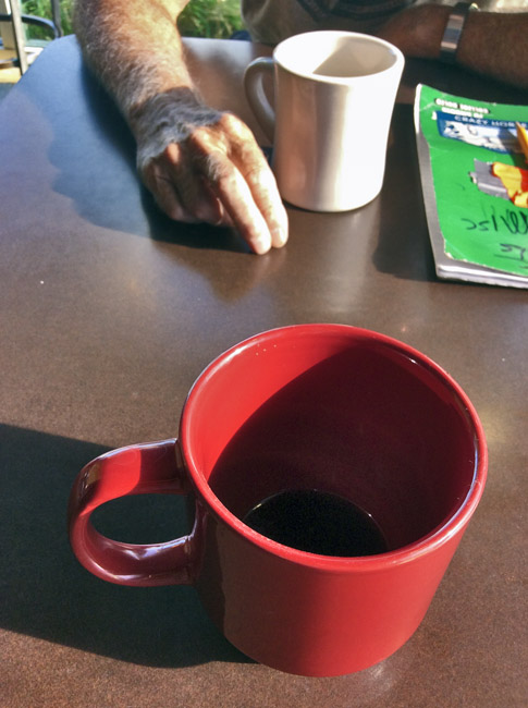 The empty morning cup of Joe