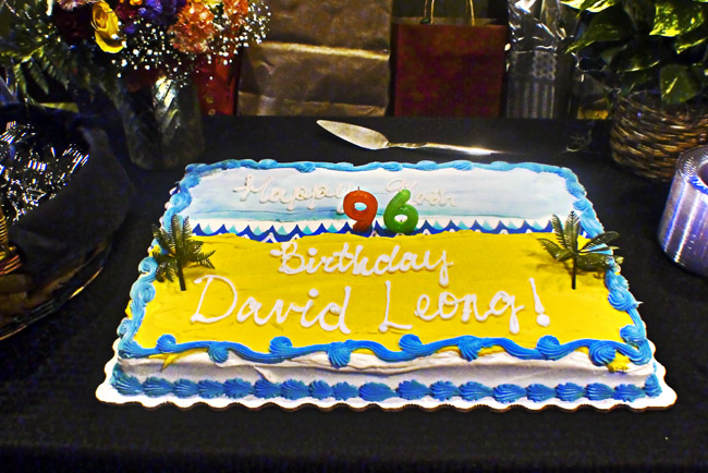 David's 96th birthday cake