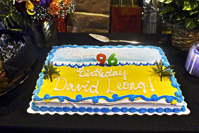 David's 96th birthday cake