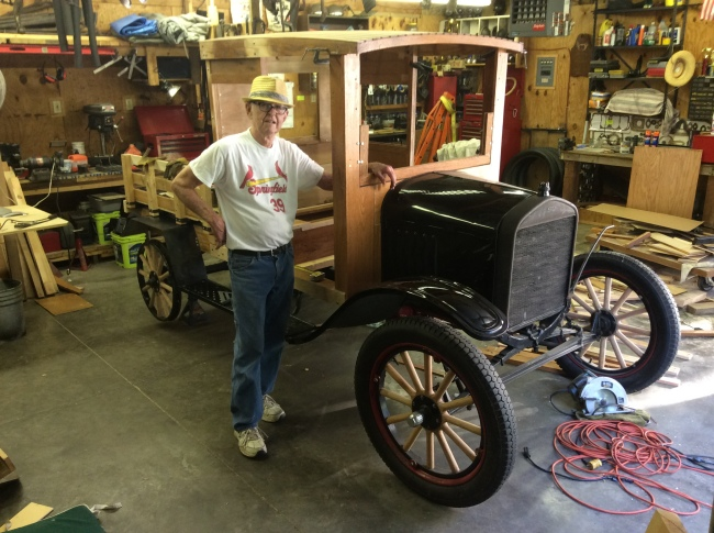 Fred and his Model T crew cab