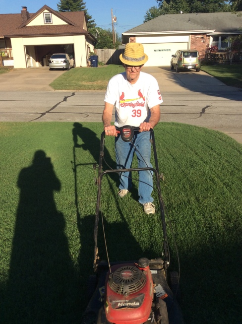 Lawn mowing Fred