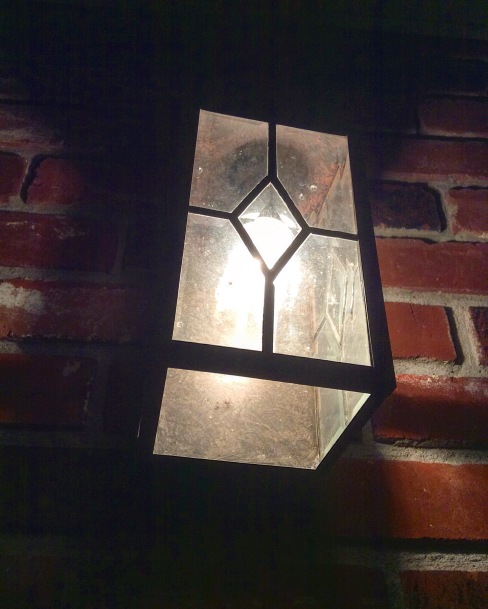 The front porch lantern