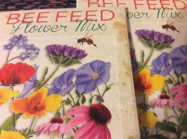Flowers will be planted, Bee are welcome