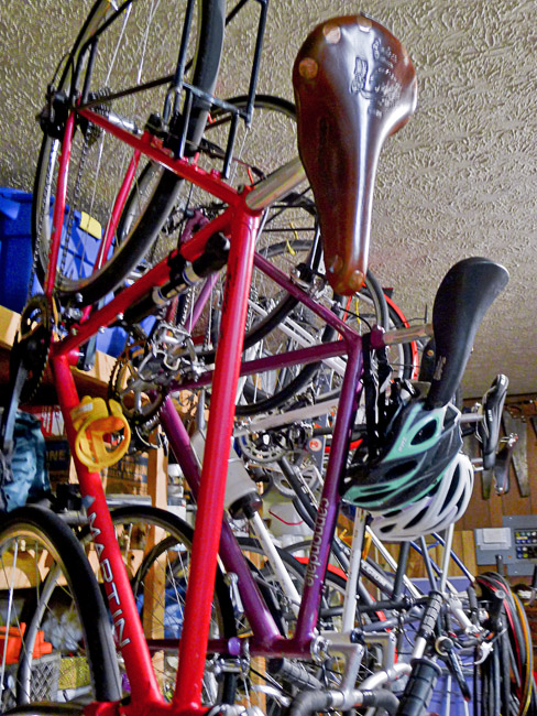 Bicycles were hung from the ceiling with care in the hopes that Eddy Merckx would soon be here