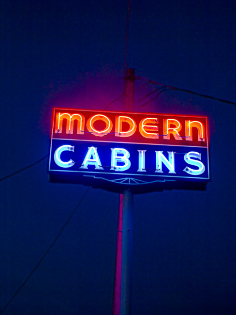 Modern Cabins on Route 66