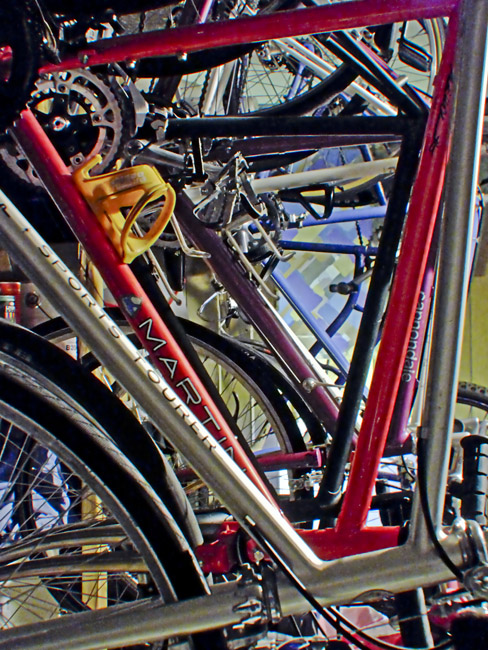 A rainbow of bicycles
