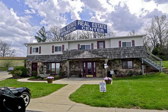 Small town real estate office