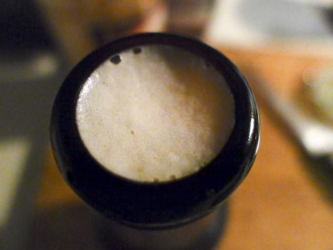 Pale Ale foam