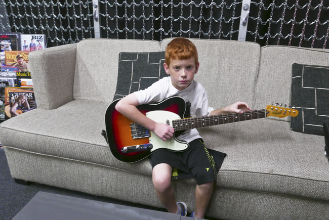 A Boy and his Telecaster