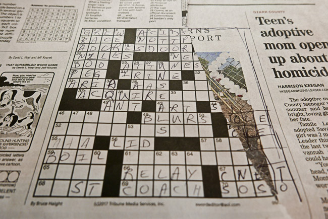 Today's crossword puzzle was difficult
