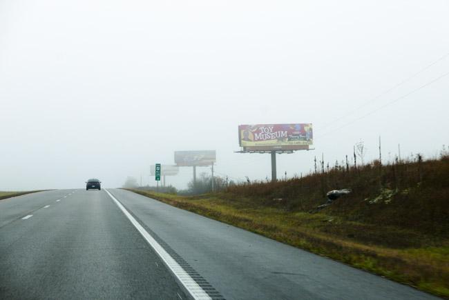 Heading south towards Arkansas