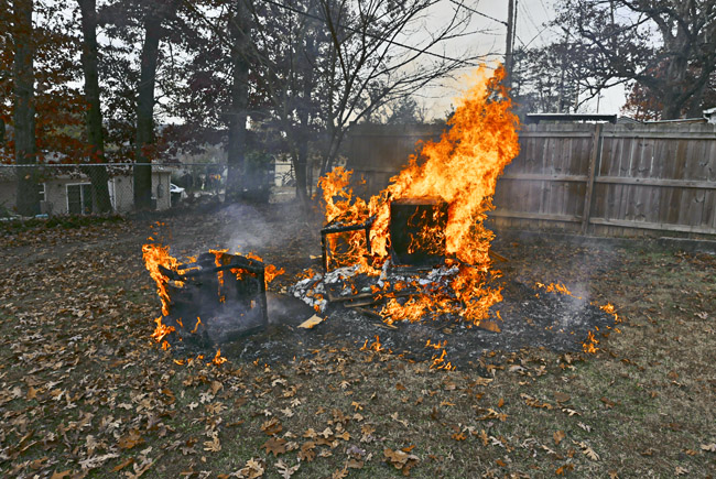 Backyard burn pile