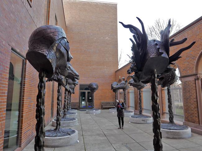 The bronze Chinese Zodiac heads
