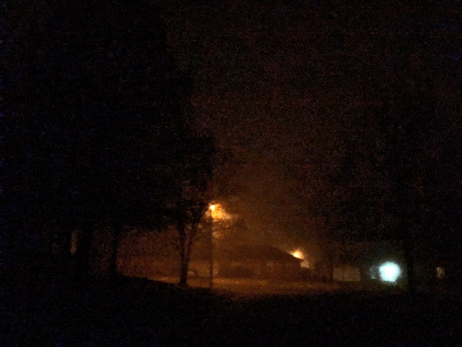 Foggy Night on South Ferguson