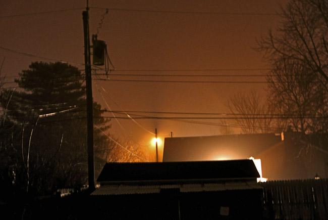 Light fog on a winter's night