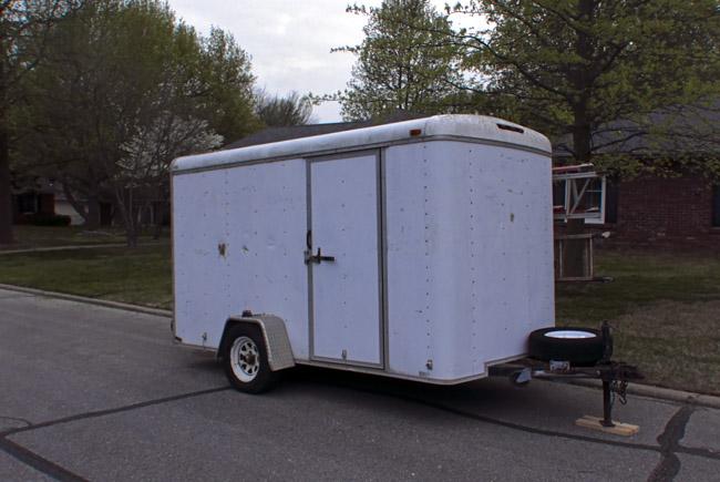 White tool trailer