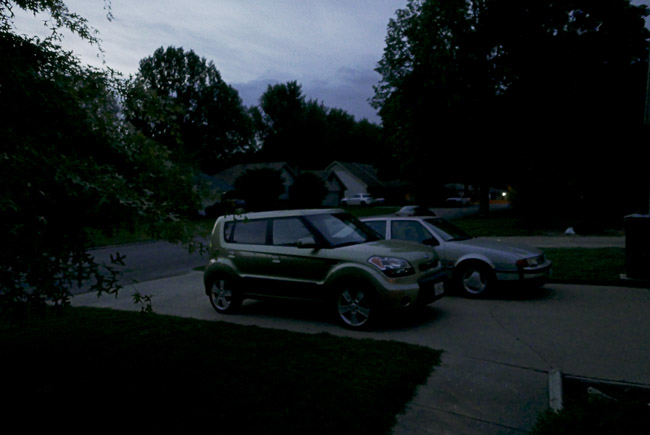 Automobiles at night