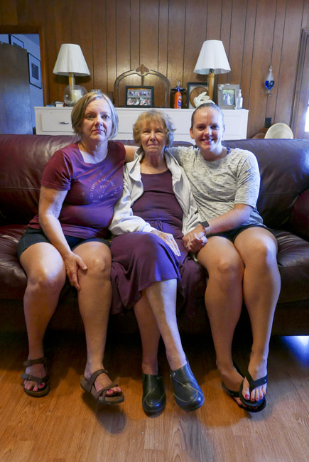 Three Generations, Elisa, Eileen, and Allix