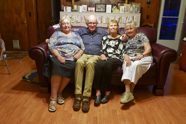 Four first cousins on the Kingston branch. Toni, Bill, Eileen, and Anna