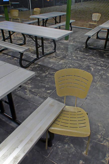 Restaurant playground seating