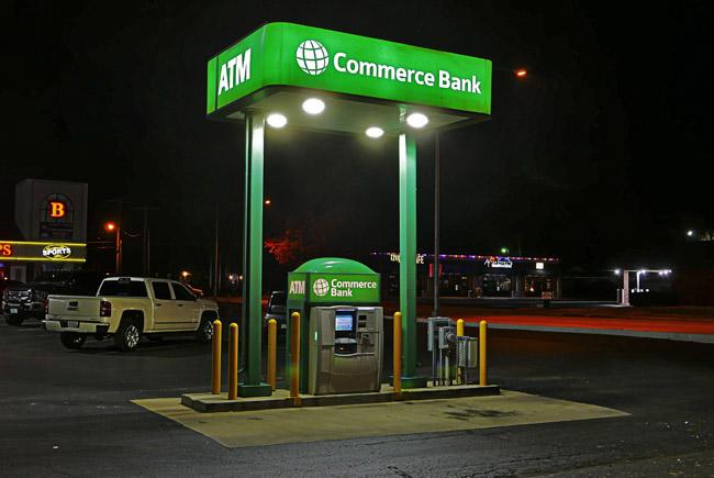 Green parking lot ATM