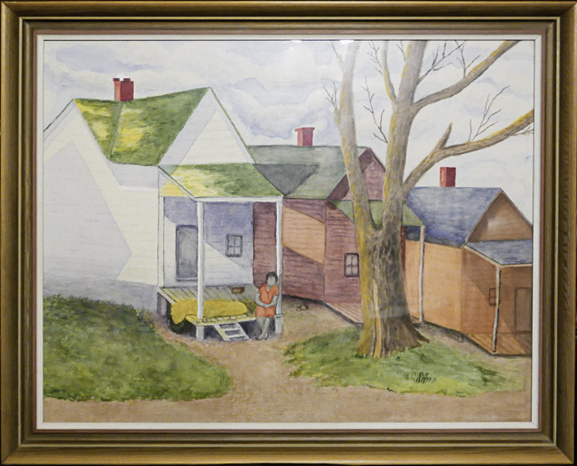 Watercolor, Servant (Slave) cabins. Ethel N. Hudson, painting 1969. On the back there is an ID label for the 1969 Watercolor USA exhibit at the Springfield Art Museum. Does anyone have any knowledge Ethel N. Hudson?