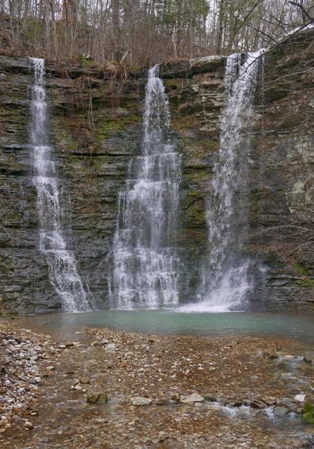 Twin Falls, aka Triple Falls near Camp Orr on the Buffalo National River