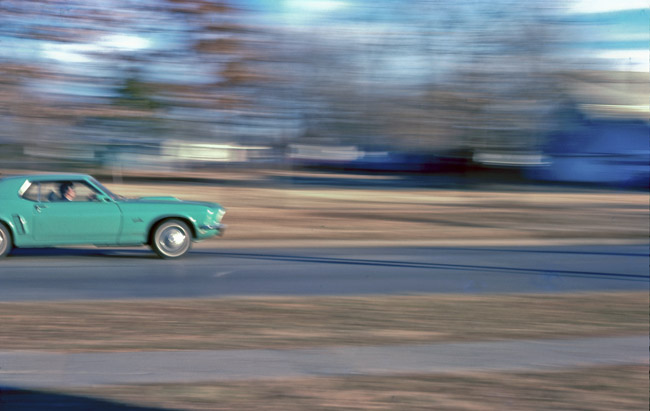 1969 Mustang Grande cruising the Springfield westside, circa 1975