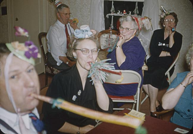Just having fun, circa 1954