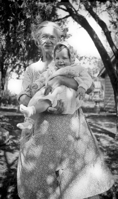 Catherine Kingston held her grand daughter Mary Jean Guidinger, circa 1938
