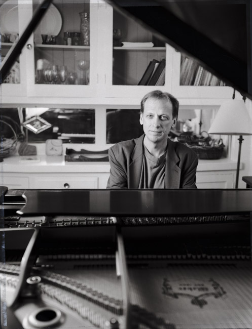 Portrait of pianist Paul Nagel, circa 1994. This portrait was an assignment from California Jazz Now Magazine.