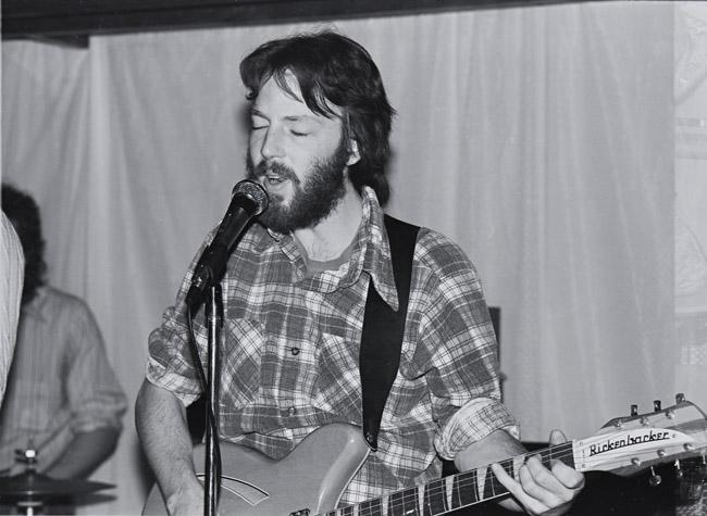 Ted still owns his broken neck Rickenbacker, circa 1979